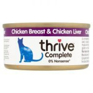 Thrive chicken and liver wet 75g