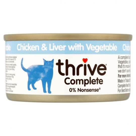 Thrive chicken liver with veg 75g wet