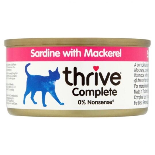 Thrive sardine and mackeral 75g wet